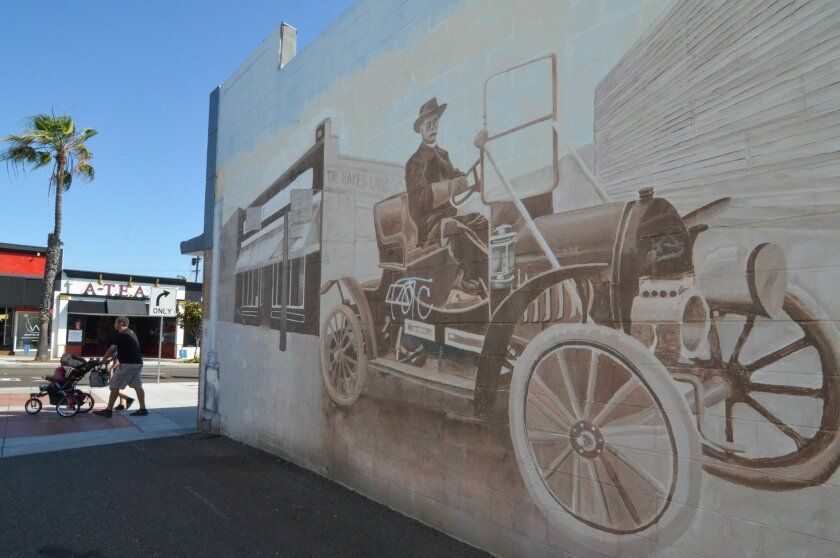 Mainstreet Oceanside is working on a project to curate 10 murals in the downtown area. The city has become a magnet for artists looking to create murals such as these in an alley off Mission Avenue between Ditmar and Freeman streets.
