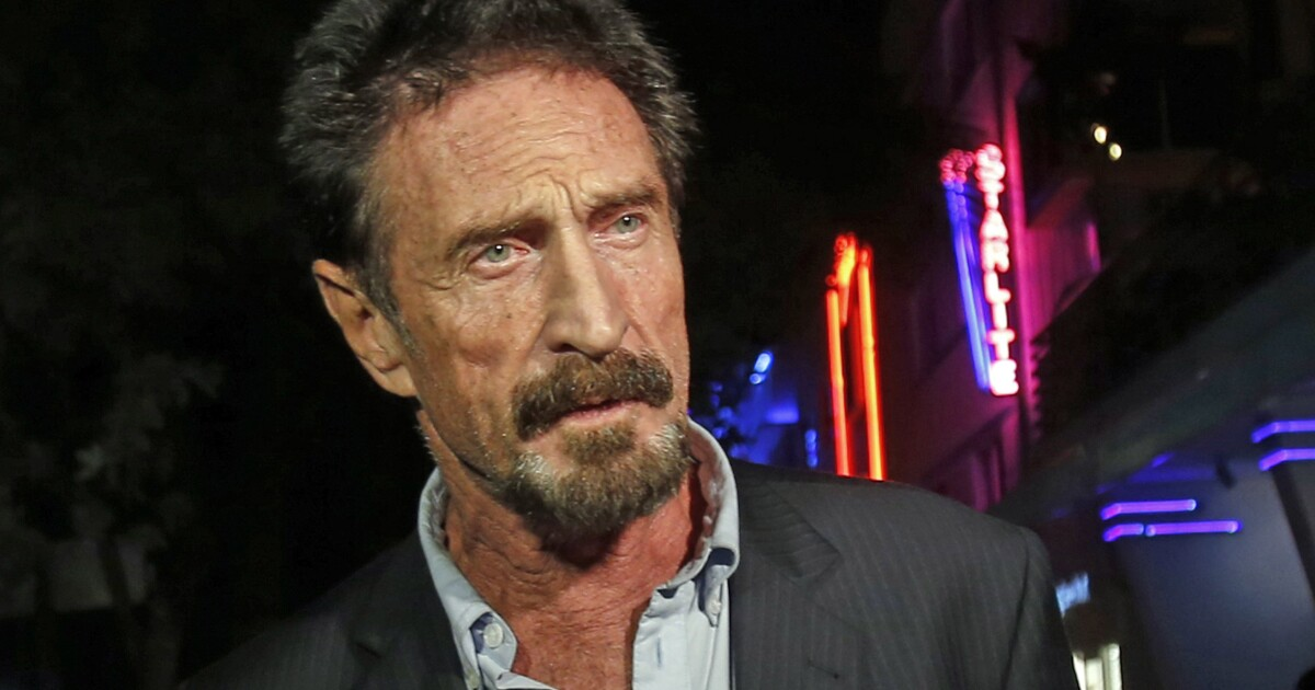 John McAfee charged over crypto promotion on top of tax woes