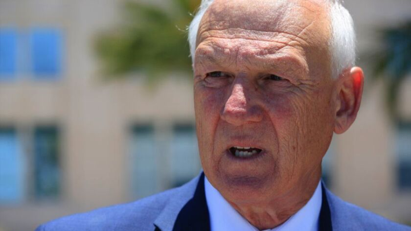 San Diego County Supervisor Ron Roberts, a longtime supporter of Gary Gallegos, former head of the S