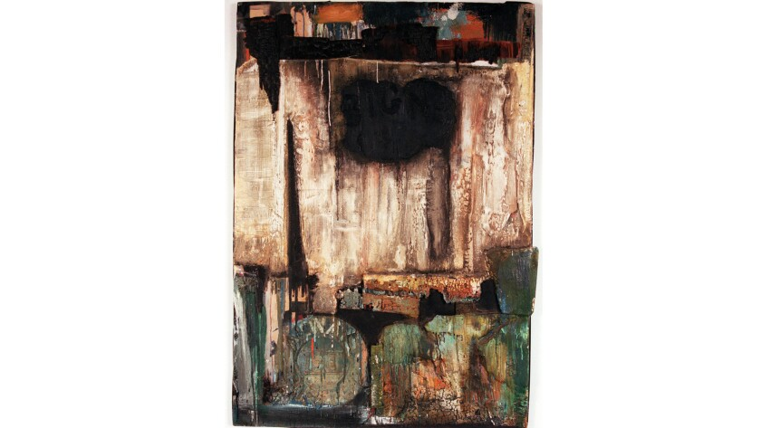 """Noah Purifoy's """"Watts Riot"""", on display at California African American Museum."""