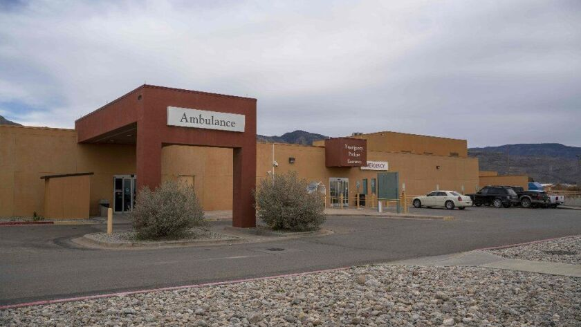 The Gerald Champion Regional Medical Center in Alamogordo, N.M., where Customs and Border Protection reported the death of an 8-year-old migrant from Guatemala on Dec. 24.