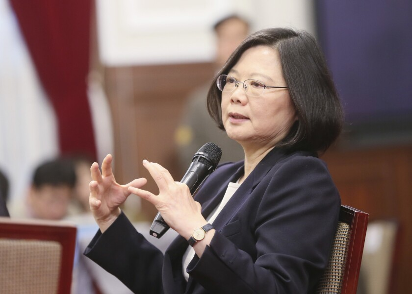 President Tsai Ing-wen, who is seeking reelection on Saturday, believes that closer integration with China carries great risks for the island's democracy because China's aim is reunification.
