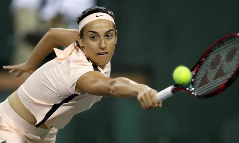 En la imagen, la tenista francesa Caroline Garcia. EFE/Archivo