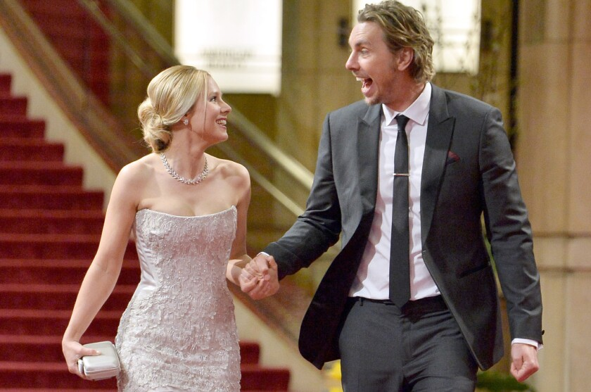 Kristen Bell and Dax Shepard are expecting a second child. They're seen leaving the Academy Awards in March.