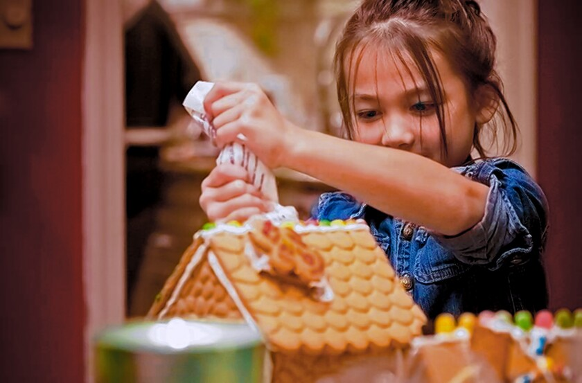 Guests can build gingerbread houses while enjoying performances by opera singers Dec. 7, 2019 at La Jolla Community Center.
