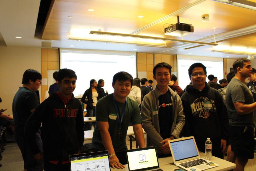 Canyon Crest senior Harris Beg (left) started a hackathon for high school students.
