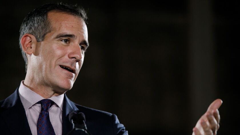 Los Angeles Mayor Eric Garcetti, who won't commit to serve his entire term, is making the moves of someone looking at a White House bid.