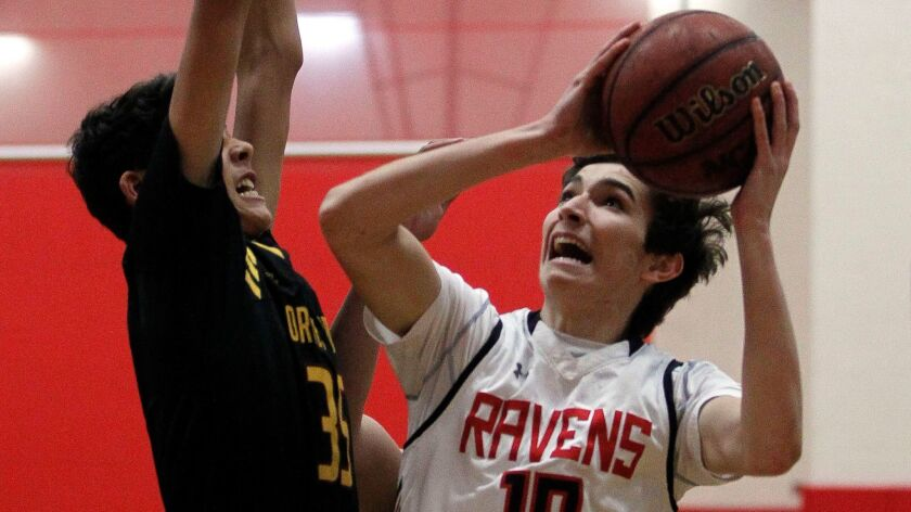 SAN DIEGO, February 7, 2018   Canyon Crest Academy's Aaron Acosta during Canyon Crest's game against