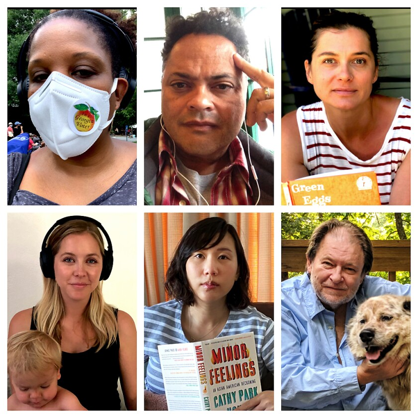 Authors Tayari Jones, Jervey Tervalon, Ivy Pochoda, Rick Bragg, Steph Cha, and Stephanie Danler
