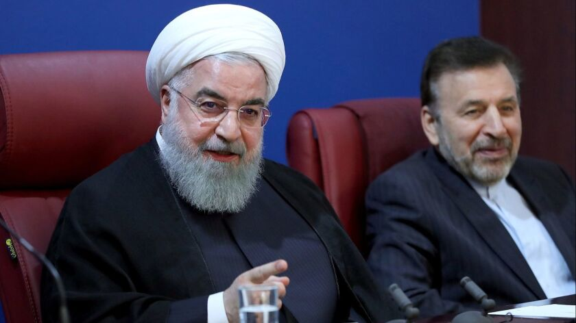 Iranian President Hassan Rouhani speaks during a meeting with officials of Ministry of Finance in Tehran on Nov. 5.