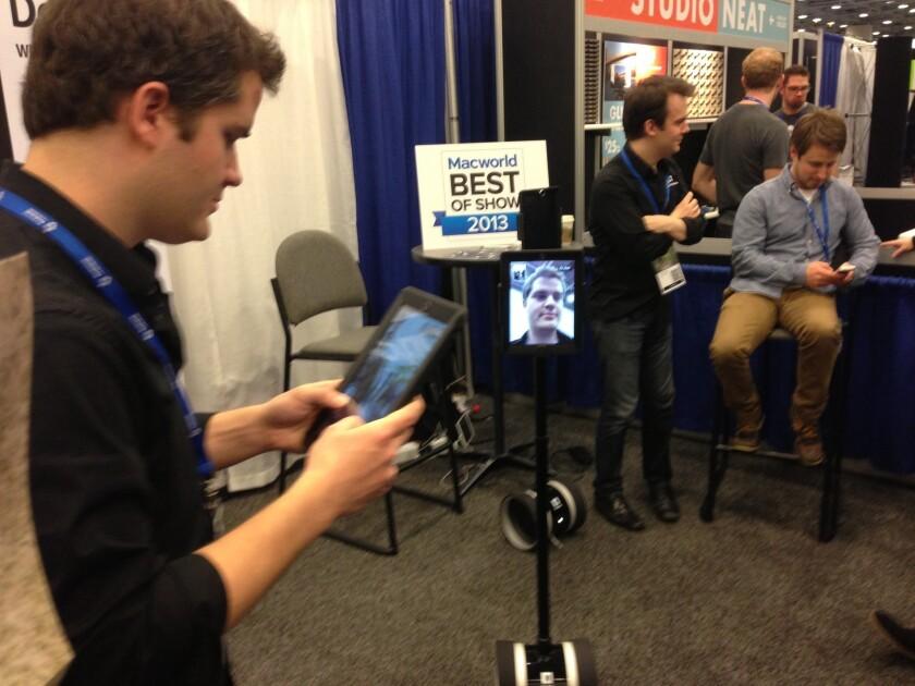 A Double telepresence robot.