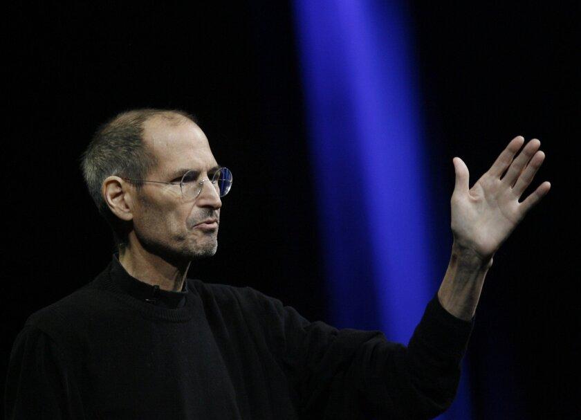 Steve Jobs speaks in San Francisco on June 6, 2011.