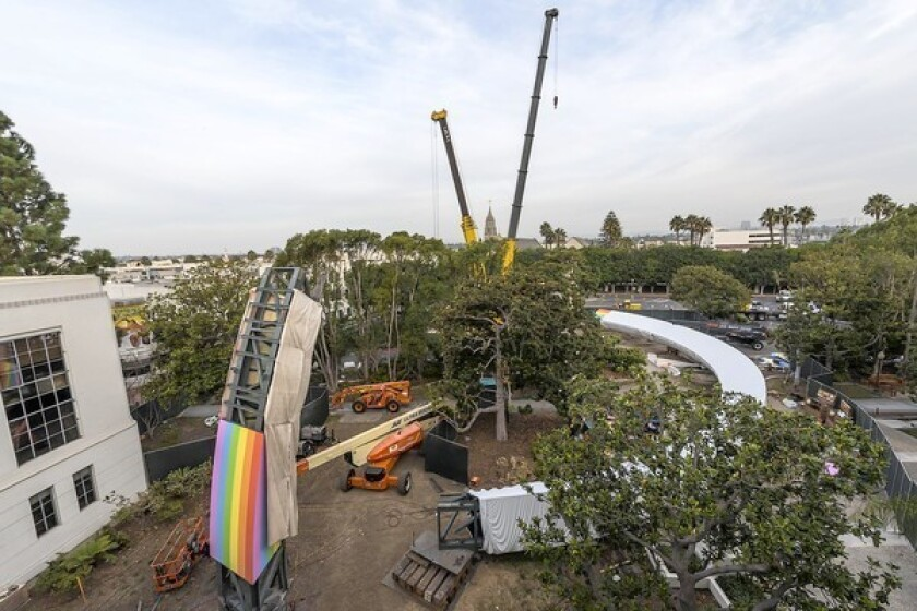 Huge rainbow art piece aims to bring Culver City oohs and Oz