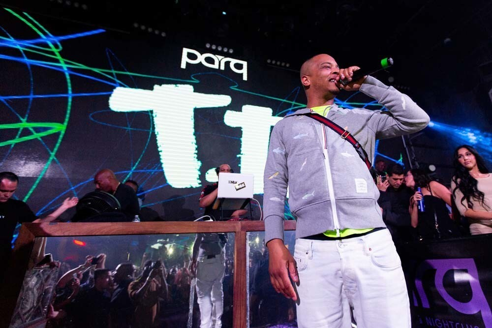 The crowds showed up when hip-hop legend T.I. lit up the stage at Parq Nightclub on Saturday, June 30, 2018.