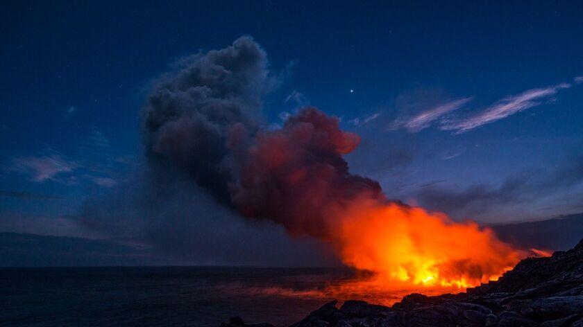 Taken as the sun was setting on Hawaii Island.