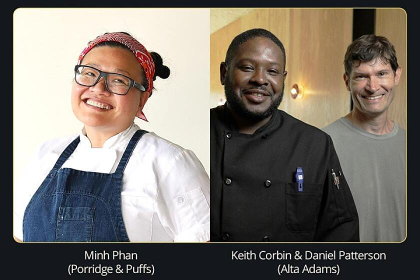 Chefs Minh Phan, Keith Corbin and Daniel Patterson