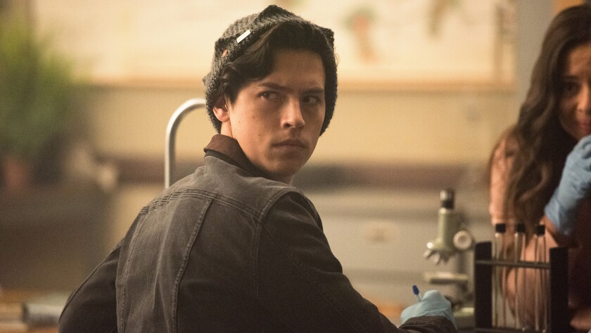 """Cole Sprouse in """"Riverdale"""" on the CW"""