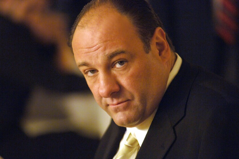 """Actor James Gandolfini, in his role as Tony Soprano, head of the New Jersey crime family portrayed in HBO's """"The Sopranos."""" The actor died Wednesday in Italy at the age of 51."""