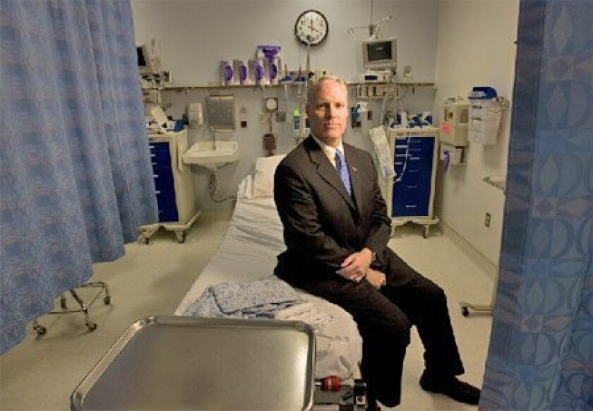 Chris Van Gorder, president and CEO of Scripps Health, at Scripps Memorial Hospital La Jolla in 2010.