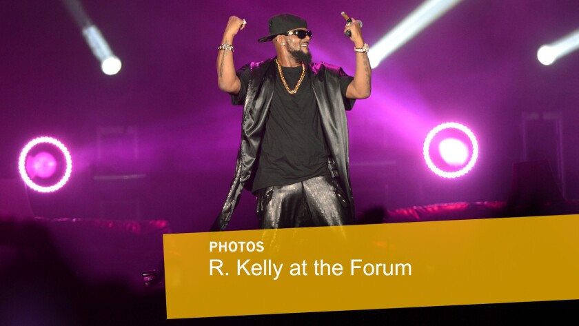 R. Kelly performs at the Forum in Inglewood.