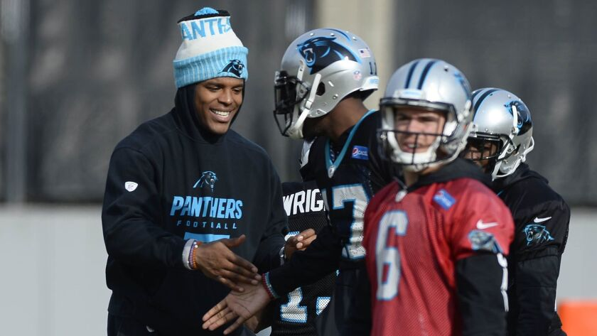 Nfl Panthers Sitting Quarterback Cam Newton Taylor Heinicke To Start Vs Falcons Los Angeles Times