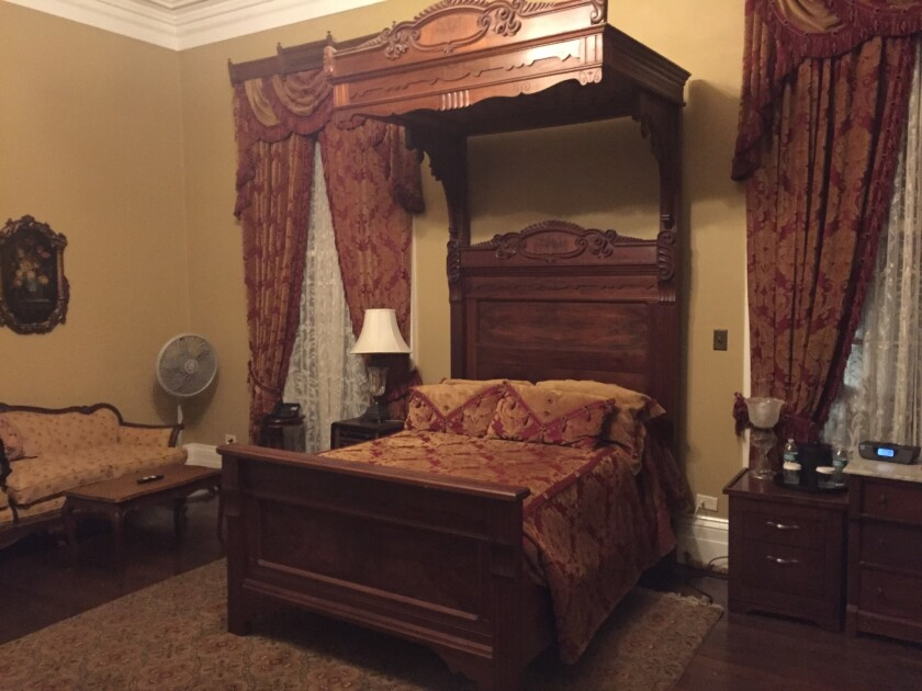 Some guests have ended up fleeing Room 14 at Nottoway Plantation.