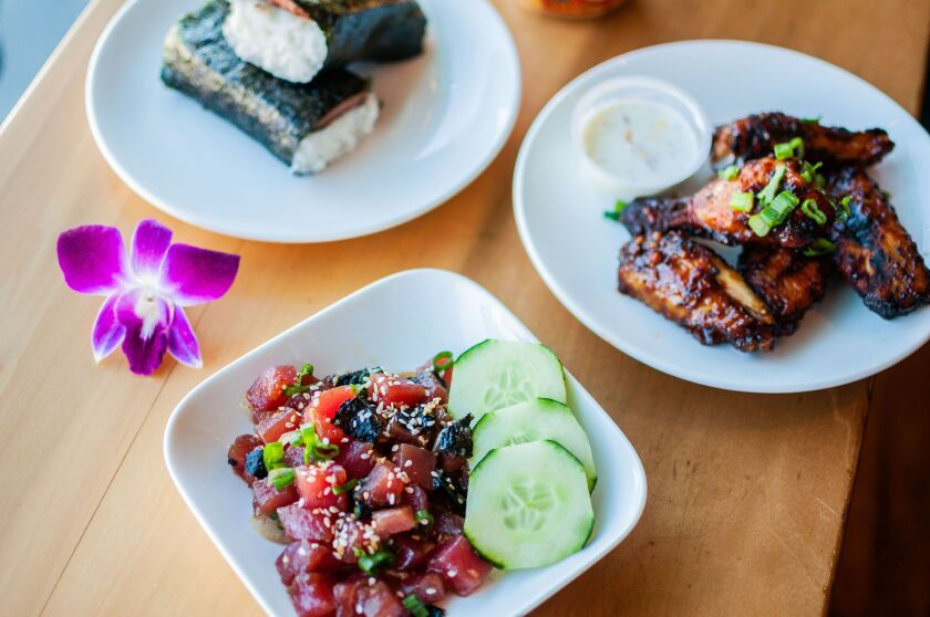 Ahi poke, huli huli chicken and Spam musubi  from Ono Grinds will bring some Hawaiian flavor to Liberty Public Market.