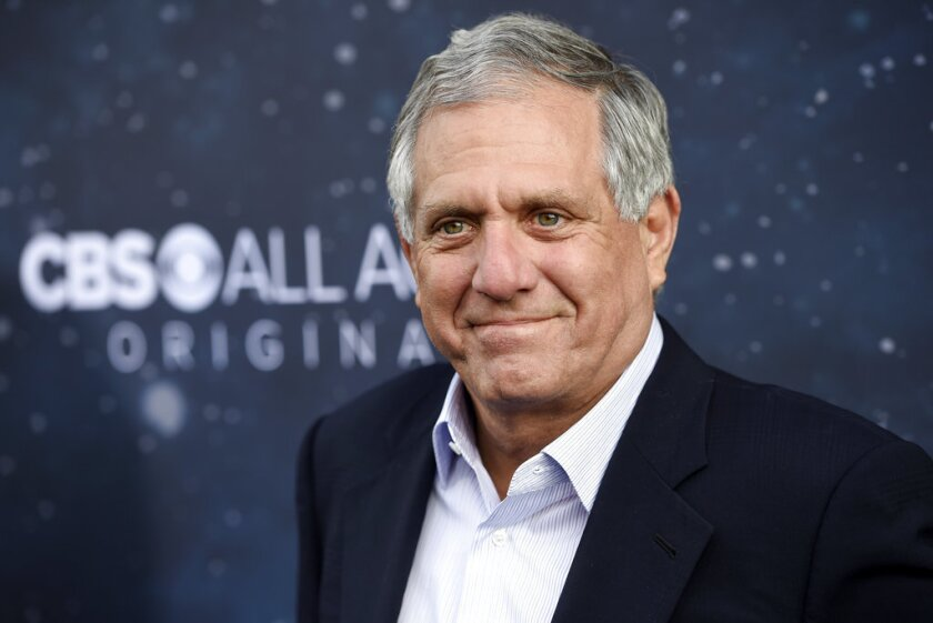 "In this Sept. 19, 2017 file photo, Les Moonves, chairman and CEO of CBS Corporation, poses at the premiere of the new television series ""Star Trek: Discovery"" in Los Angeles. The CBS board said Friday, July 27, 2018, it was investigating allegations of misconduct involving Moonves."