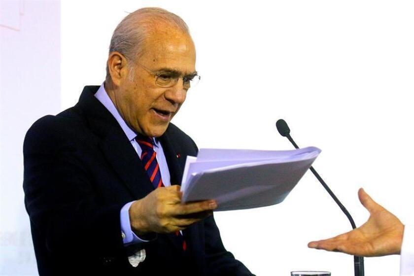 El secretario General de la Organización para la Cooperación y Desarrollo Económico (OCDE), José Ángel Gurría. EFE/Archivo