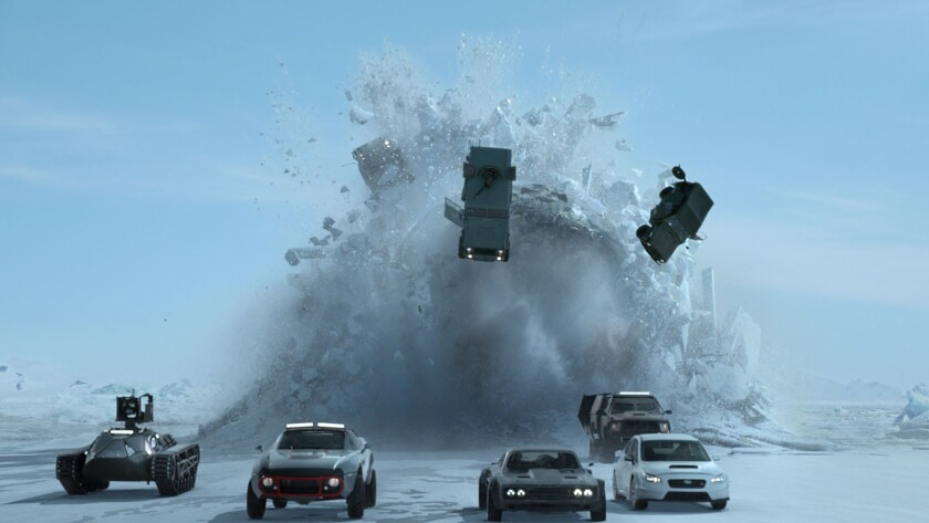 """A scene from the movie """"The Fate of the Furious."""""""