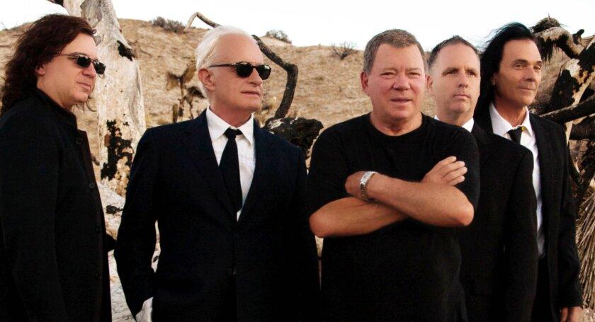 MUSIC --- William Shatner with progressive rock band Circa