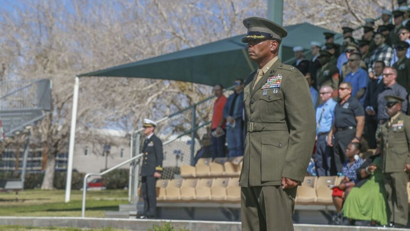 Marines fire commander, senior enlisted leader at light