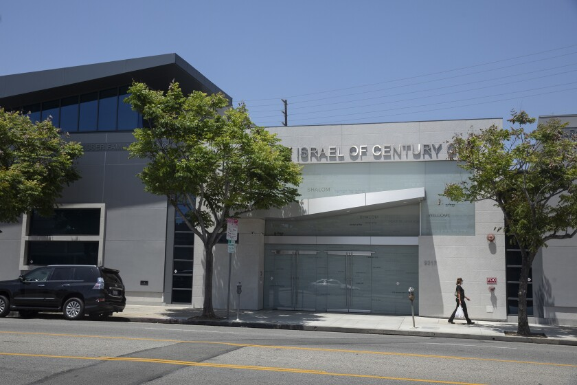 Young Israel of Century City synagogue on Pico Boulevard