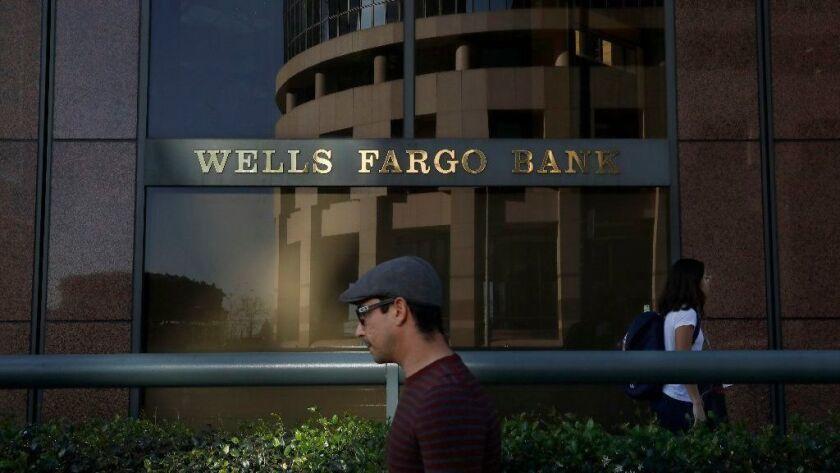 A Wells Fargo branch in downtown Los Angeles.