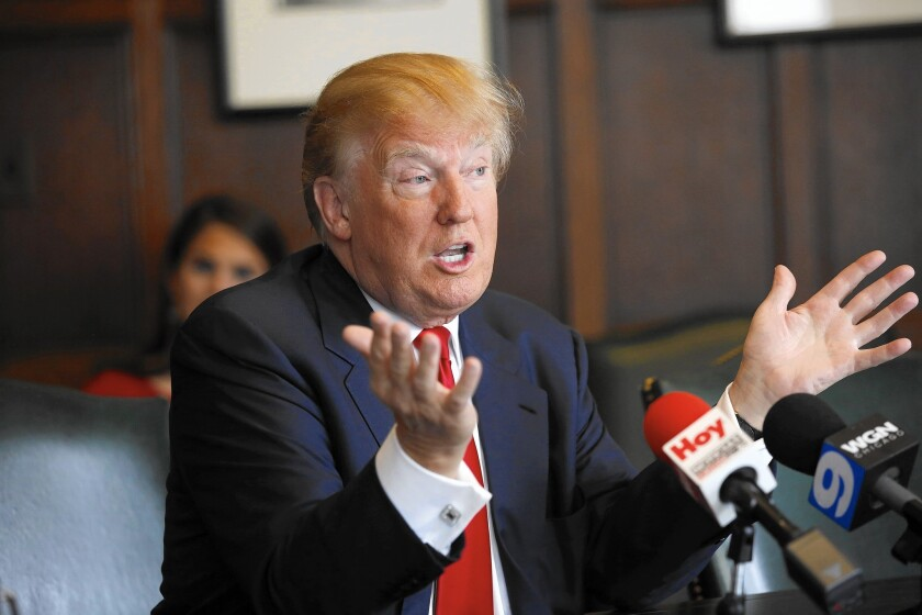 Donald Trump speaks with the Chicago Tribune Editorial Board on June 29, 2015.
