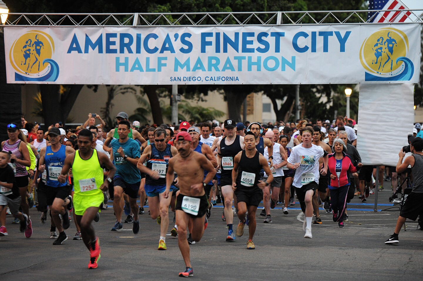 Runners raced to the finish line through the scenic course of America's Finest City Half Marathon & 5K on Sunday, August 18, 2019.