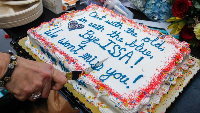 SAN DIEGO, CA January 10th, 2018 | Organizers cut a cake on Wednesday celebrating Congressman Darrel