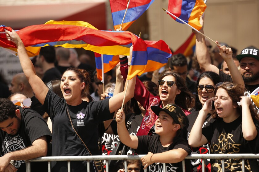 Armenian genocide anniversary march
