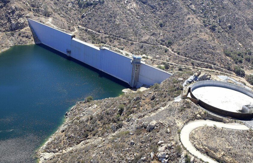 The San Diego County Water Authority's $1.5 billion Emergency Storage Project added 117 feet to the San Vicente Dam which was dedicated in an official ceremony Wednesday.