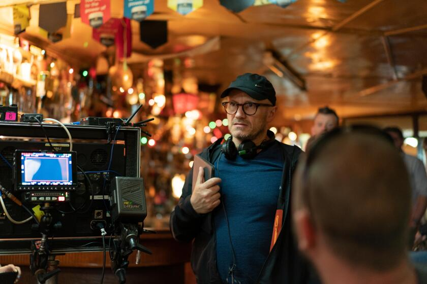 "Director Lenny Abrahamson on the set of ""Normal People."""