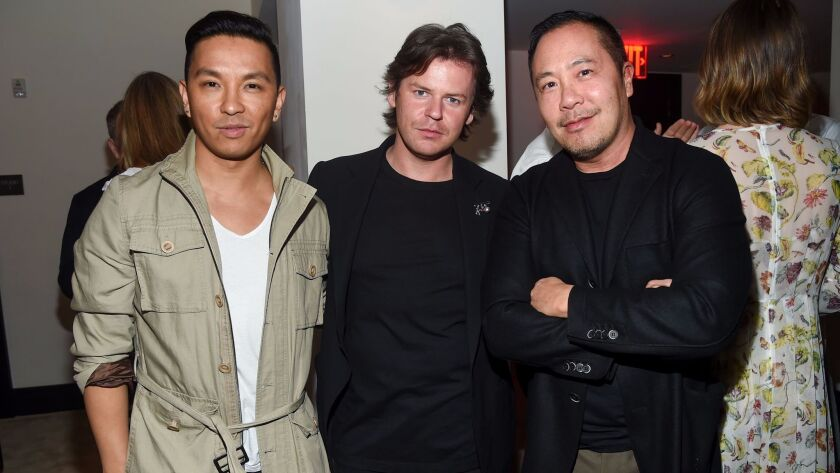 Mandatory Credit: Photo by Clint Spaulding/WWD/REX/Shutterstock (8771377aw) Prabal Gurung, Christop