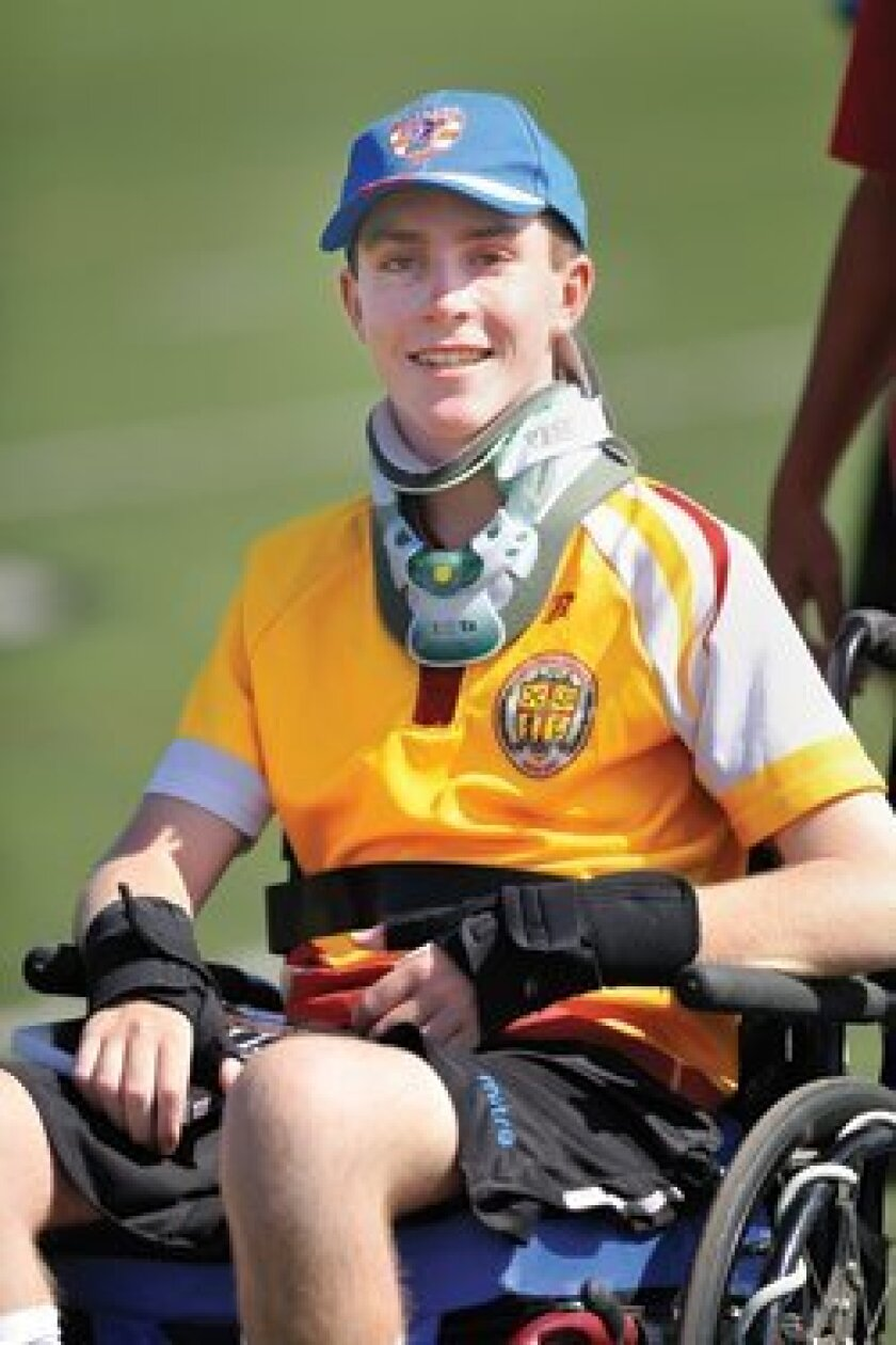 A Nov. 3 event will benefit Ronan Nelson, a Cathedral Catholic student who broke his neck and injured his spinal cord playing rugby. Photo/Jon Clark