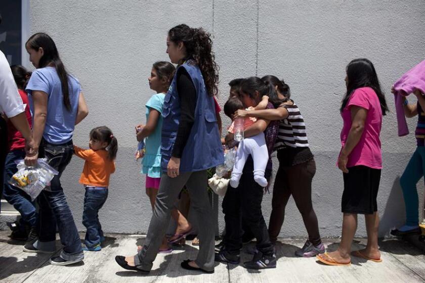 Todos los menores deportados fueron recibidos en el Centro de Atención para Niñez y Familias Migrantes Belén, que se localiza en San Pedro Sula, norte hondureño. EFE/Archivo