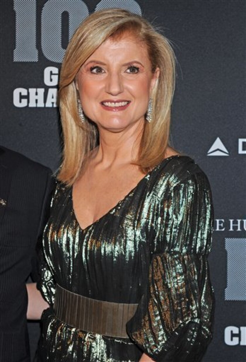 """FILE - In this Oct. 28, 2010 file photo, Ariana Huffington arrives at the """"Huffington Post 2010 Game Changers Event,"""" in New York. AOL's Huffington Post Media Group announced Thursday that it will launch the Huffington Post Streaming Network this summer. The online network will stream live news video from New York and Los Angeles studios for 12 hours on weekdays and expand next year to 16 hours Monday through Friday. The Huffington Post is dedicating 100 employees to the project. (AP Photo/Louis Lanzano, file)"""