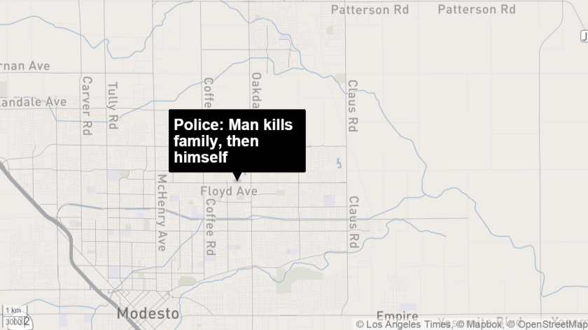 Police: Modesto man kills his wife, two adult children then
