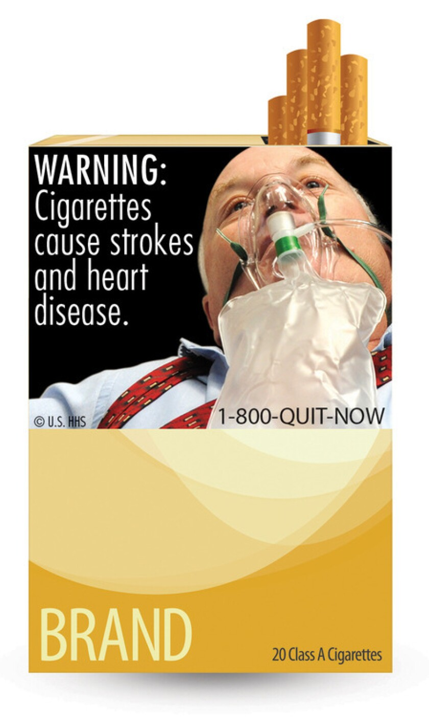 This is one of the nine new warning labels smokers will see by the fall of 2012.