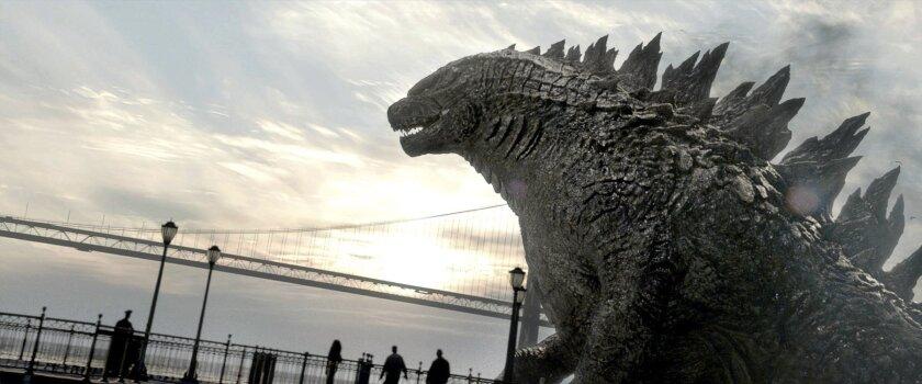 A scene from 'Godzilla'