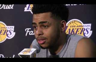 Lakers Nick Young and D'Angelo Russell meet with the media about video