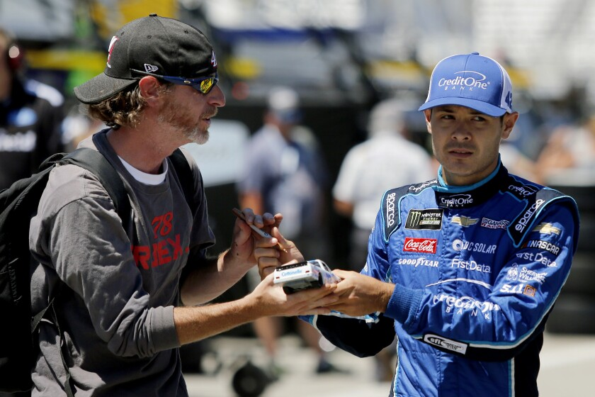 NASCAR Larson Fired Auto Racing