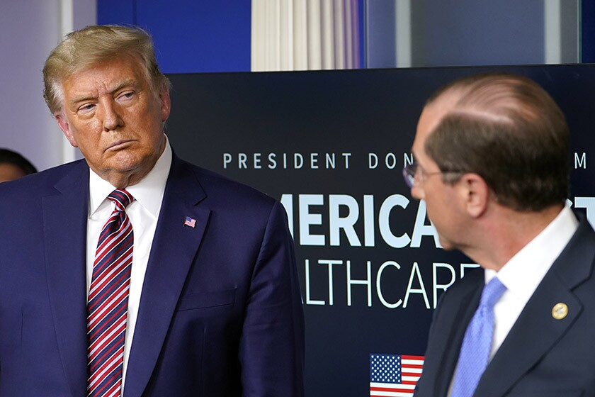 President Trump and HHS Secretary Alex Azar announce new rules aimed at cutting the price of some prescription drugs.